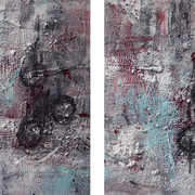"""Two"" - 2x 40x50x3,5 cm - verkauft"