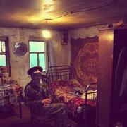 Ветеран Ю. Г. Болоцков в гостях у Пивоварова в его курене в ст. Кривянской 2010 год.