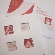 Weihnachtskarte mit bedrucken Florentinern im Kanzleidesign
