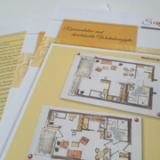 Infoblätter über Leistungen und Grundrisse
