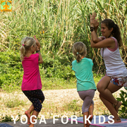 Yoga for children. Daily a half hour (free) or a private session.