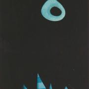 青い花のモニュメント  銅版画 ed 29/50