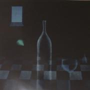 青い夜  銅版画 ed 1/30