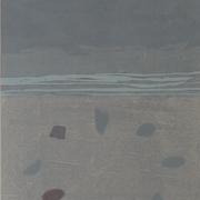 海辺  木版画  55*36