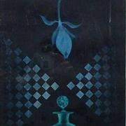 バラと予感  銅版画