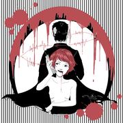 泰子さんの小説を基にした、月面晩餐会文庫さん製作によるノベルゲーム「Z氏は帰りたい/他一篇」に解説文と共に載せていただいた挿絵。