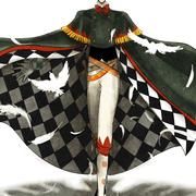 奥村あゆみさんの『Shadow Circus』より、オズロー。サーカスの手品師で白い鳩に変身できるということで、特徴的なマントのダイヤ柄を思い切り見せるポーズに。