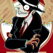 ぱのさんの創作作品より、玉三郎。無個性なスー帽姿(そこが良い)でありながら、表情豊かな顔とグリフォン由来の手という組み合わせが尖ってるキャラ。。