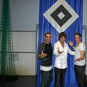Pierre-Michel Lasogga und Marcel Jansen ( HSV Profis )