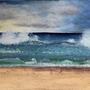 'Sturmgeflüster   Ölfarben, Sand  auf Keilrahmen 60x80cm gemalt (inkl. Rahmen)    Wert: 350.-