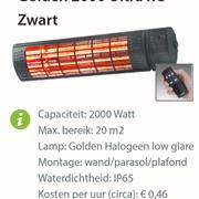 Heater -  Golden 2000 Ultra RC Zwart