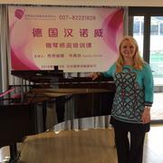 als Dozentin bei Lehrerfortbildung in Wuhan/ China