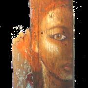 """""""Avatar"""" peinture sur bois flotté"""
