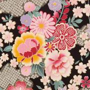 #BouquetJapanSchwarz, Goldfäden verarbeitet