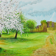 "© Alice Schütte | Titel ""Frühling""  | Größe 120x80 cm | Acryl auf Leinwand | Nr. 10-50500"