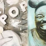 LOLLIPOP 2019 Öl auf Leinwand  35 x 70 cm