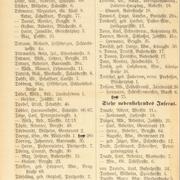Adressbuchauszug von Stargard in Pommern, 1920