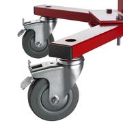 Wärmestrahler zum Trocknen von Material auf Rollen mit Bremse zum feststellen