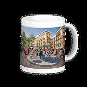 Taza Paseo por La Rambla, Barcelona, España