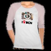 Camiseta De mudanza al Gótico, serie BCN colors, Barcelona, España
