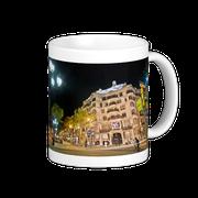 Taza de la Casa Milà (La Pedrera) de Gaudi, Barcelona, España