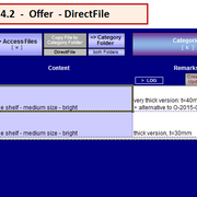 """select row and hit button """"DirectFile"""" or use Strg+d"""