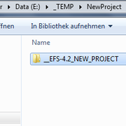 move folder to new location and re-name according to your project   whole EFS context will work INSIDE this folder   => complete folder can even be moved later w/o problems