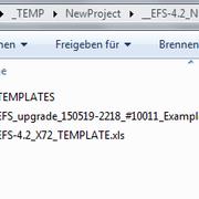 view into EFS folder