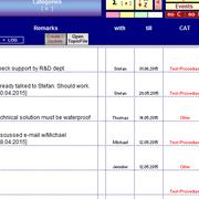 detail of columns remarks, partners, deadlines, categories