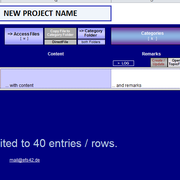 """re-name title and push button """"new row"""" for first entry"""