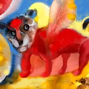 Der geflügelte Bärenhund als Löwe