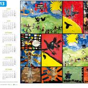 Création des calendriers avec les dessins des enfants des écoles de Pierrerue et Niozelles.