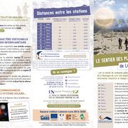 Sentier des planètes. Communauté de communes Pays de Forcalquier Montagne de Lure