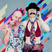 Ada und Evam, 2017. (Mischtechnik / PE-Folie / HDF, 50 x 70 cm)