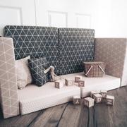 Polster Sofa grau rosa