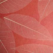 Blattapete, rot