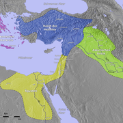 The major powers of the Bronze Age at the time of the peace treaty in 1260 BC