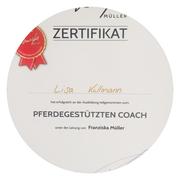 Zertifikat Lisa Kullmann – Pferdegestützter Coach