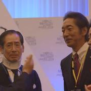 石橋専務理事&ジャーナリストの蟹瀬 誠一氏