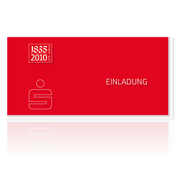 Kreissparkasse Miesbach-Tegernsee Jubiläums-Einladung
