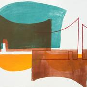 Innenort 5, 57 x 78 cm, Lithographie, 2017;  Serie von Micha Hartmann aus Esslingen