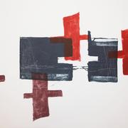 ohne Titel 2013, 40 x 56 cm, Lithographie von Micha Hartmann, Esslingen
