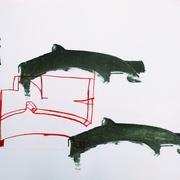 Luftraum 2, Lithographie, 56 x 78 cm, Unikat aus einer Serie; Micha Hartmann, Esslingen