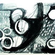 o.T., Lithographie, 2016, Auflage 2, 39 x 56 cm; Graphische Arbeit von Micha Hartmann aus Esslingen