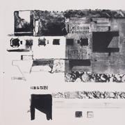 Nissen, Lithographie, 56 x 56 cm, 2014, Auflage 3