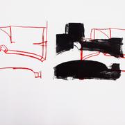 Luftraum 3, Lithographie, 56 x 78 cm, Unikat aus einer Serie; Micha Hartmann, Esslingen