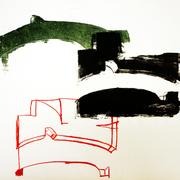 Luftraum 1, Lithographie, 56 x 78 cm, Unikat aus einer Serie; Micha Hartmann, Esslingen