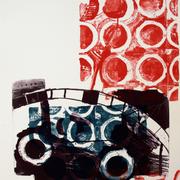 Graphische Serie 2017,7; 78 x 57 cm, Lithographie; Graphische Arbeit von Micha Hartmann, Esslingen