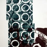 Graphische Serie 2017,5; 78 x 57 cm, Lithographie; Graphische Arbeit von Micha Hartmann, Esslingen