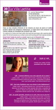 """Encart """"sur le vif"""" - Guide restaurants 2015 Pays de Bergerac"""